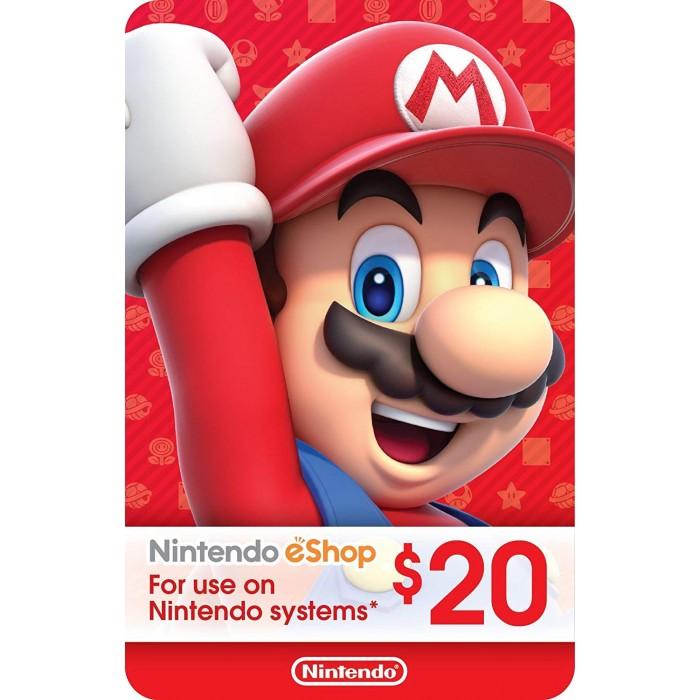 $20 Nintendo eShop Gift Card [Digital Code] - US Store